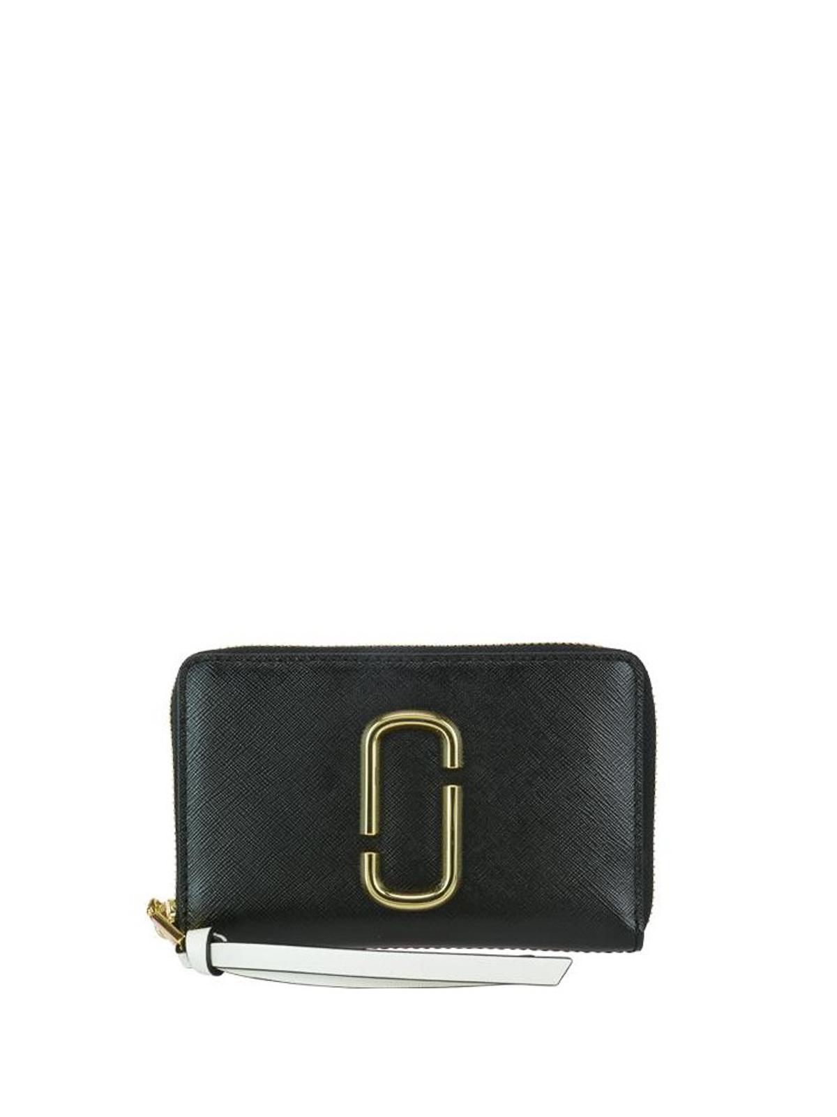 99cbde2bd6 Marc Jacobs - Snapshot black and pink wallet - wallets & purses ...