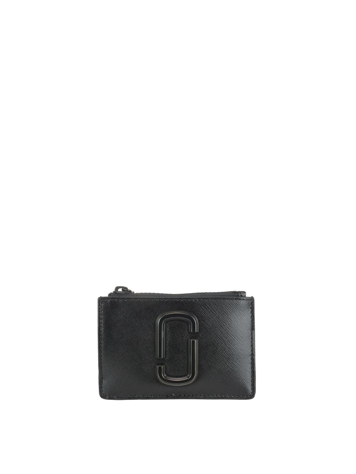 check out 80003 84400 Marc Jacobs - Portafoglio nero Snapshot DTM top-zip Multi ...