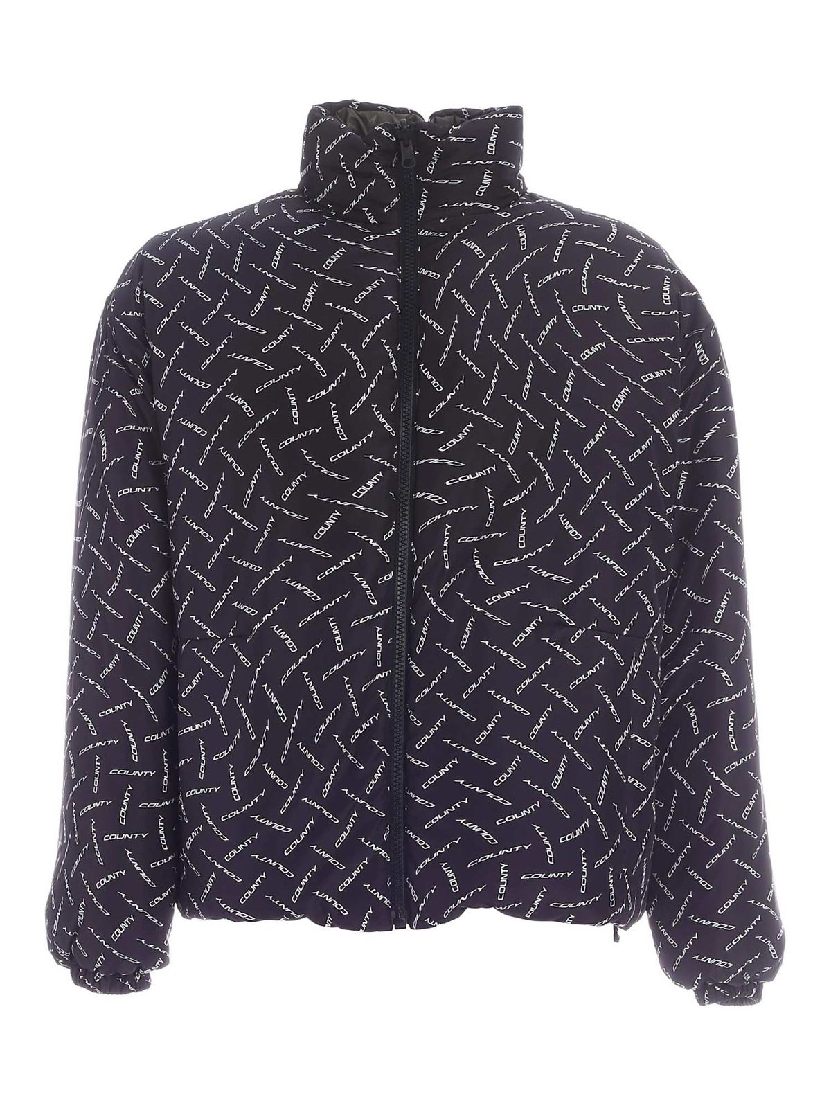 Marcelo Burlon County Of Milan REVERSIBLE DOWN JACKET IN GREEN AND BLACK