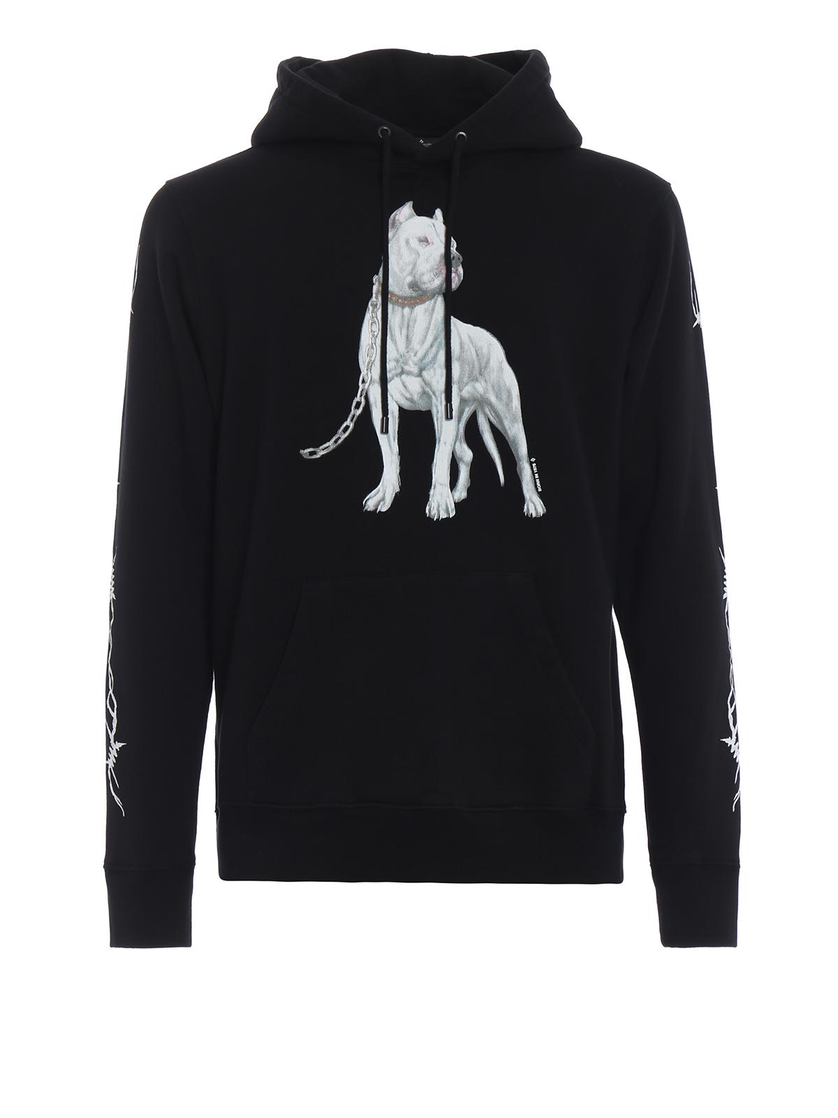 7157e80f30ef Marcelo Burlon - Dogo black cotton hoodie - Sweatshirts   Sweaters ...