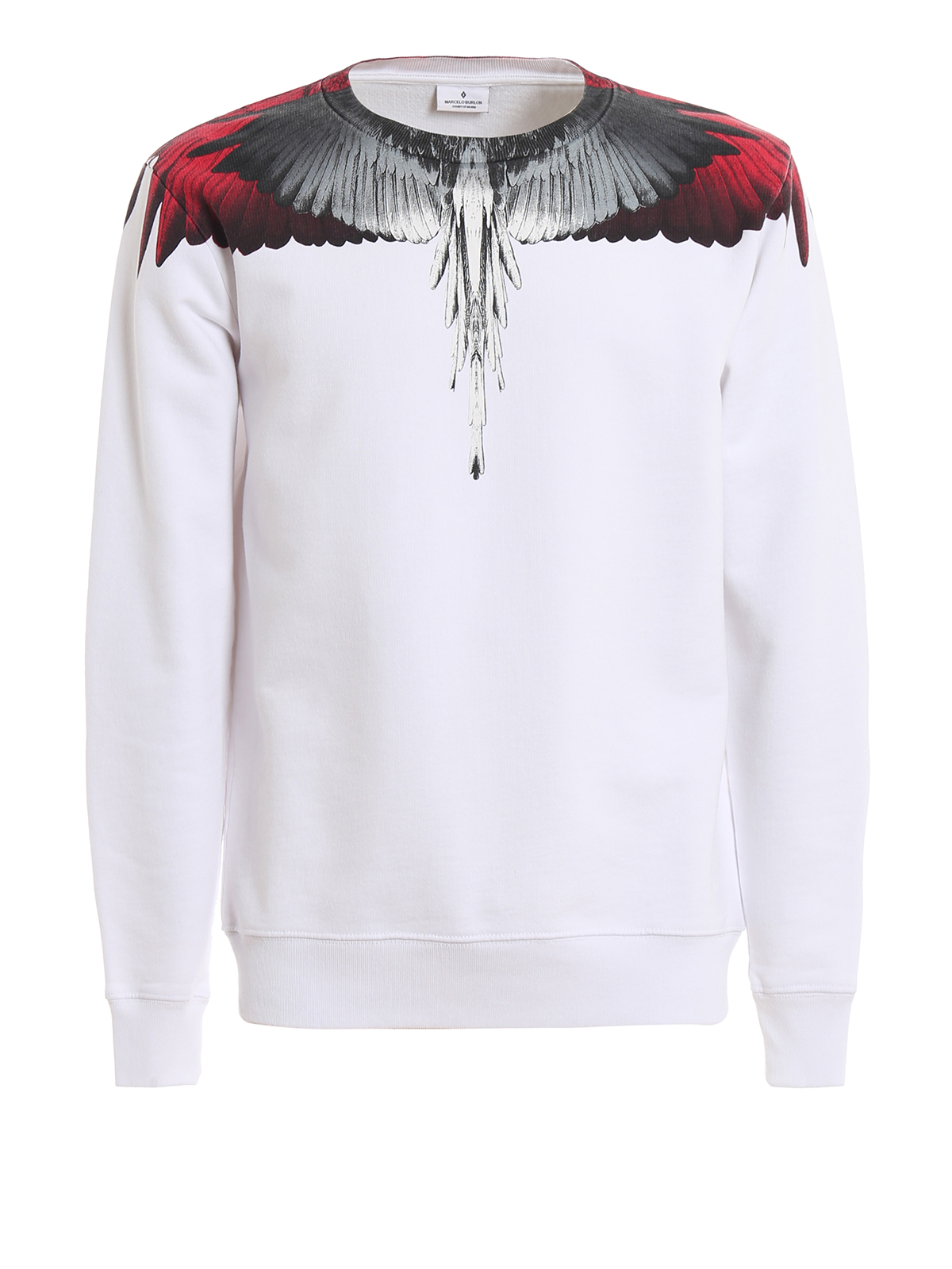 Marcelo Burlon Felpa Wings bianca Felpe e maglie