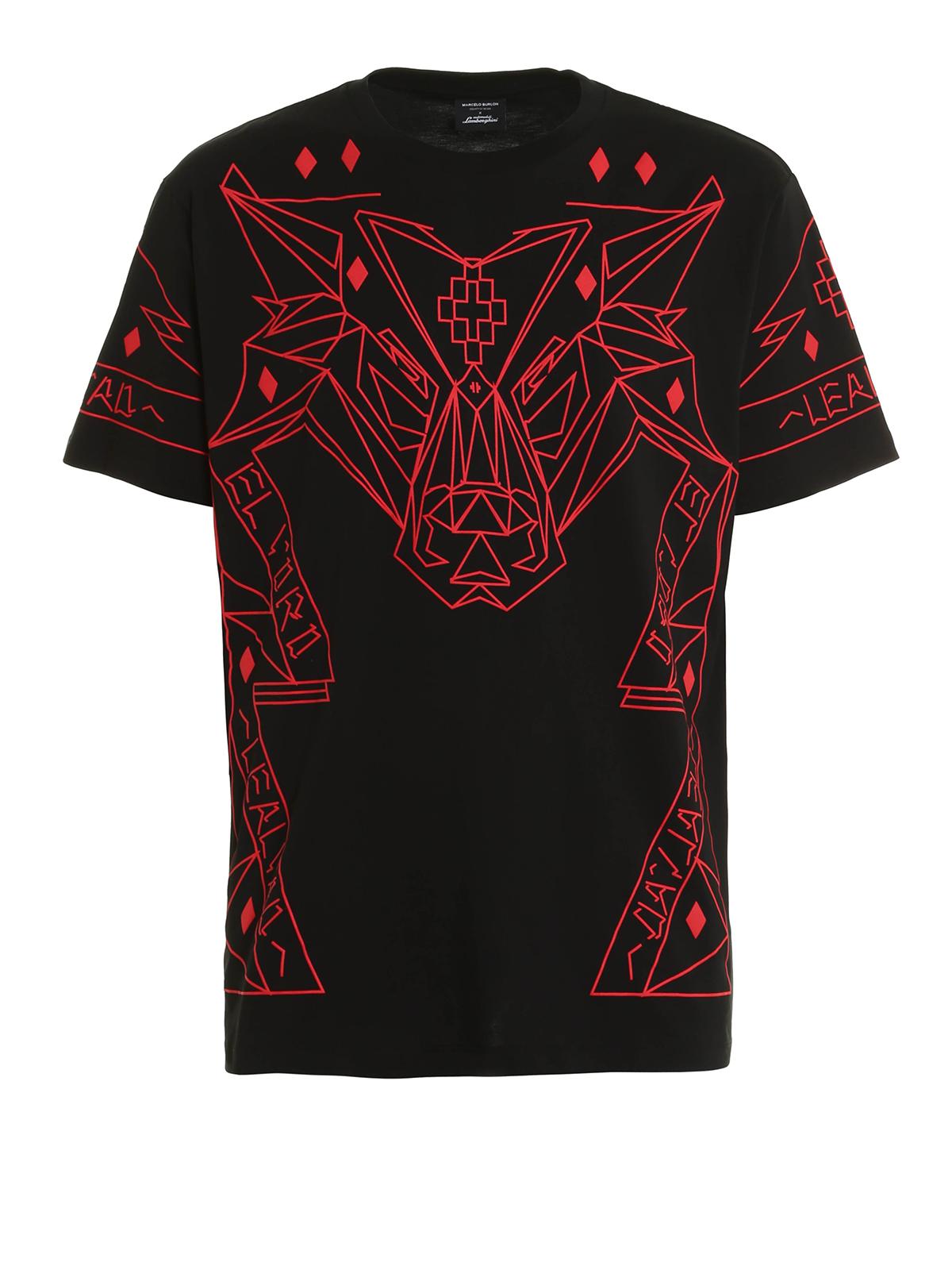 Lamborghini t shirt by marcelo burlon t shirts shop for T shirts store online