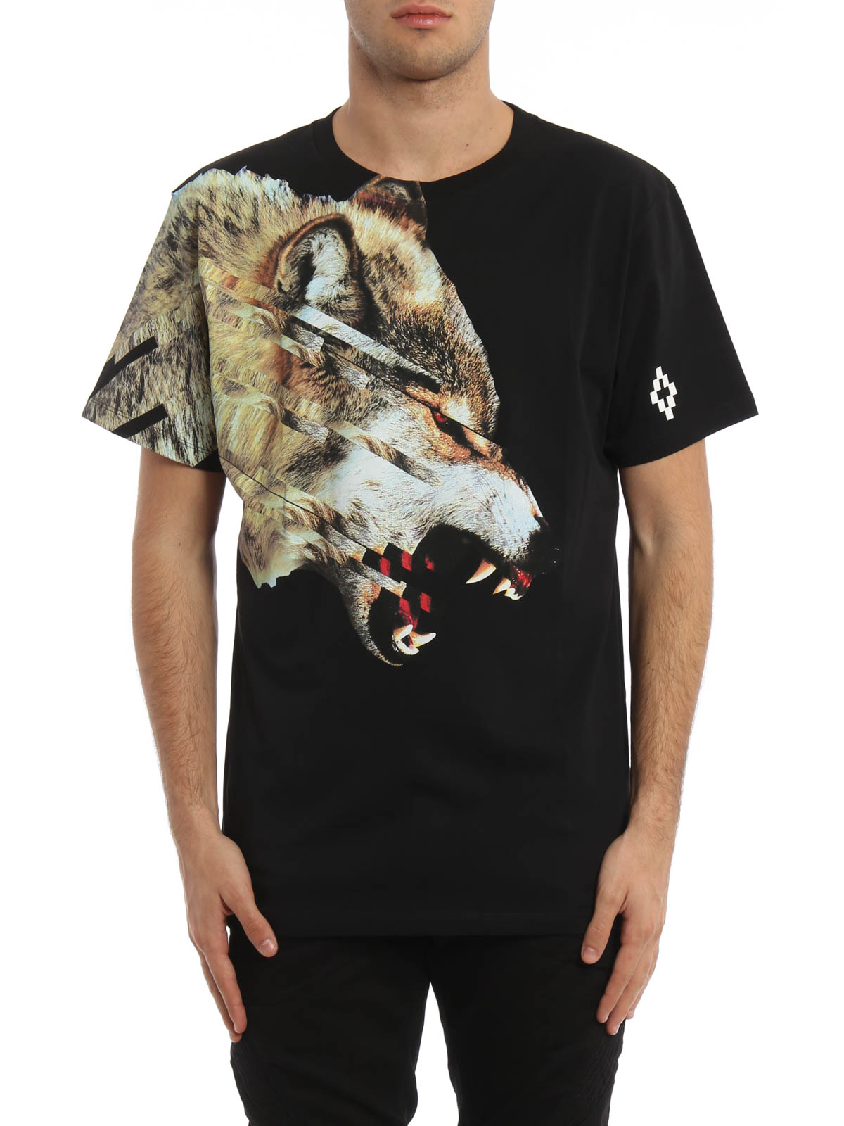 rubber wolf print cruces t shirt by marcelo burlon t. Black Bedroom Furniture Sets. Home Design Ideas