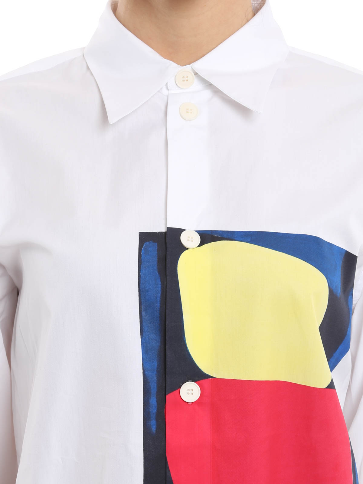 marni buy online cotton colour block over shirt