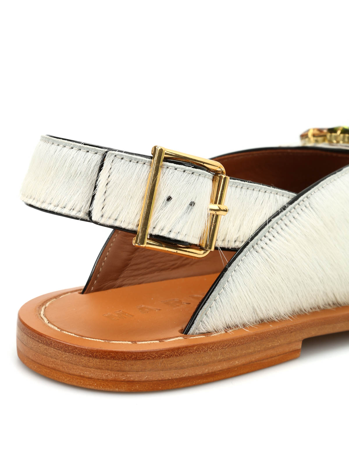 marni buy online fur cow hair jewel sandals