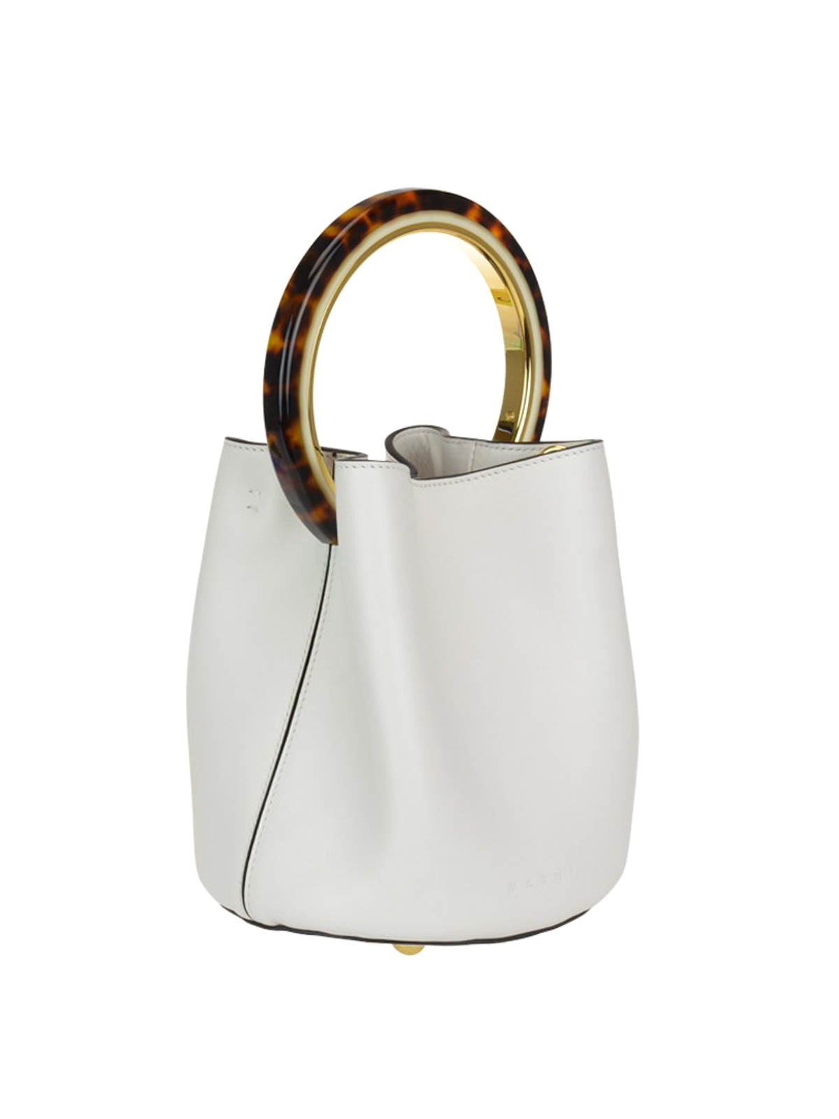 a284ca61075d Marni  Bucket bags online - White bucket bag with tortoiseshell handle