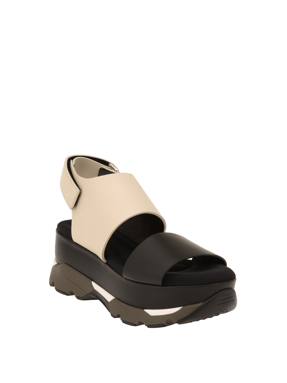 Marni - Leather platform sandals