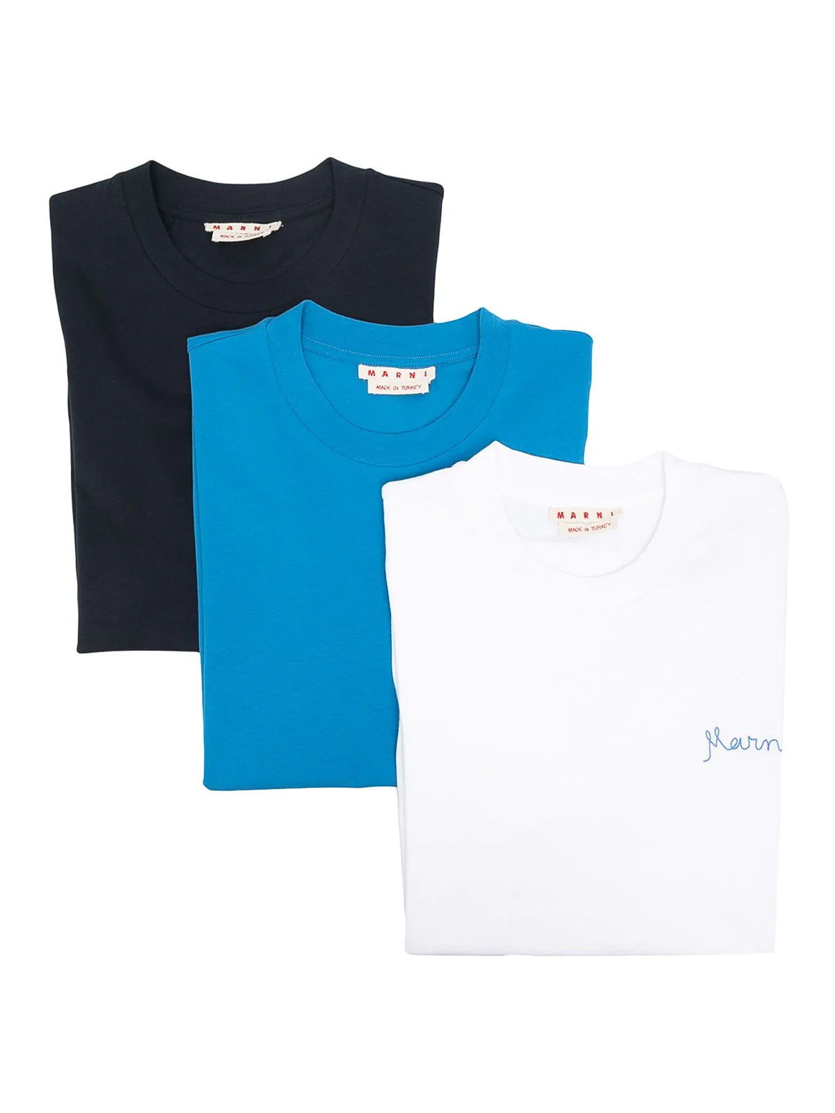 Marni COTTON T-SHIRT WITH LOGO EMBROIDERY