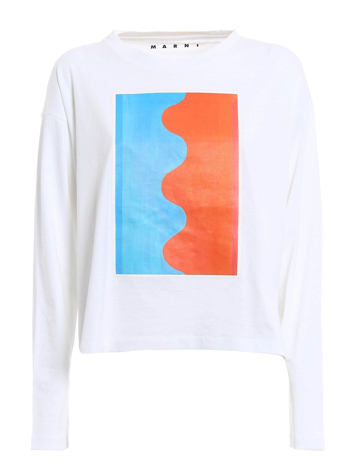 Indian Orange Print T Shirt By Marni T Shirts Ikrix
