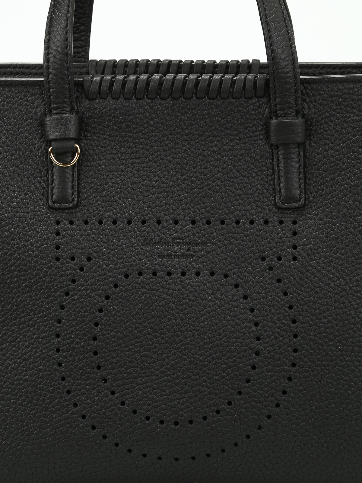 ebc2c57646 Salvatore Ferragamo - Marta perforated logo small tote - totes bags ...