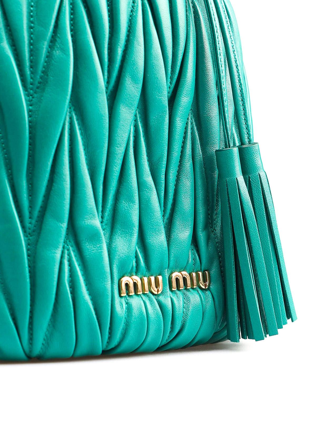 cheaper 7dd91 3e0f7 Miu Miu - Secchiello piccolo in nappa matelassé - Secchielli ...