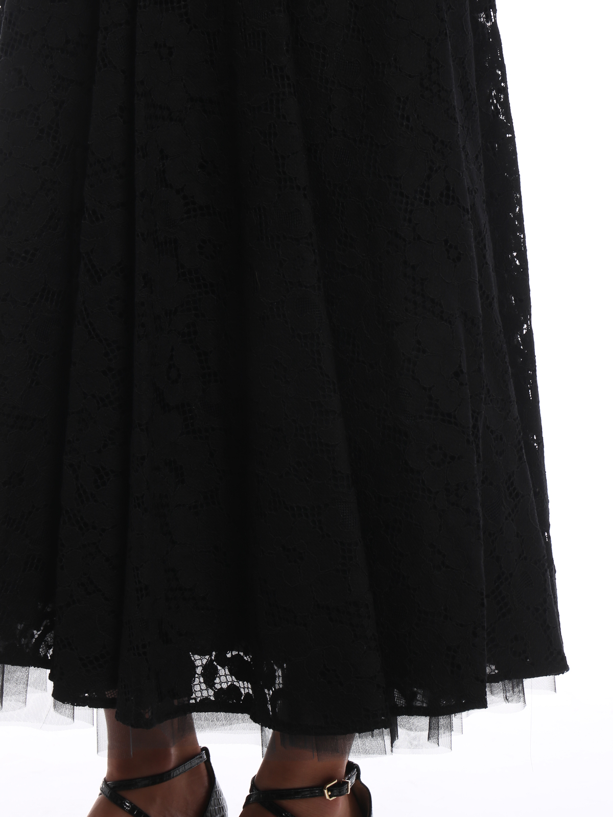 af10d264a5 Max Mara buy online Marilyn black lace and tulle midi skirt. Max Mara: Long  skirts ...