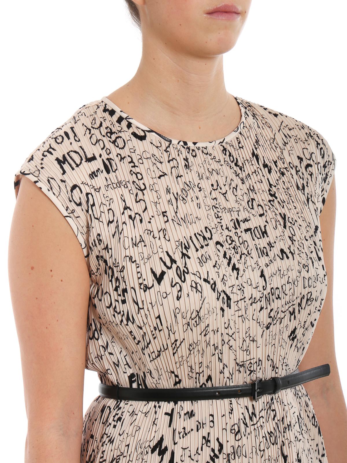8e2fe70377e Max Mara - Rino dress with leather belt - cocktail dresses ...
