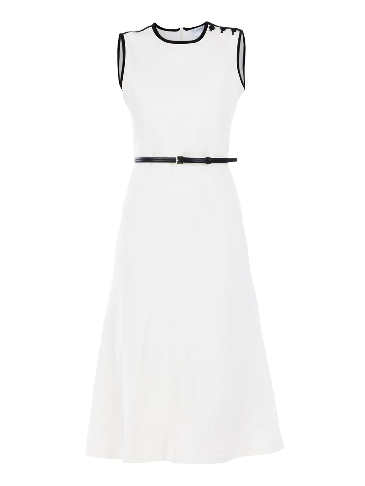 aadee698a46 Max Mara - Saio linen and silk midi dress - knee length dresses ...