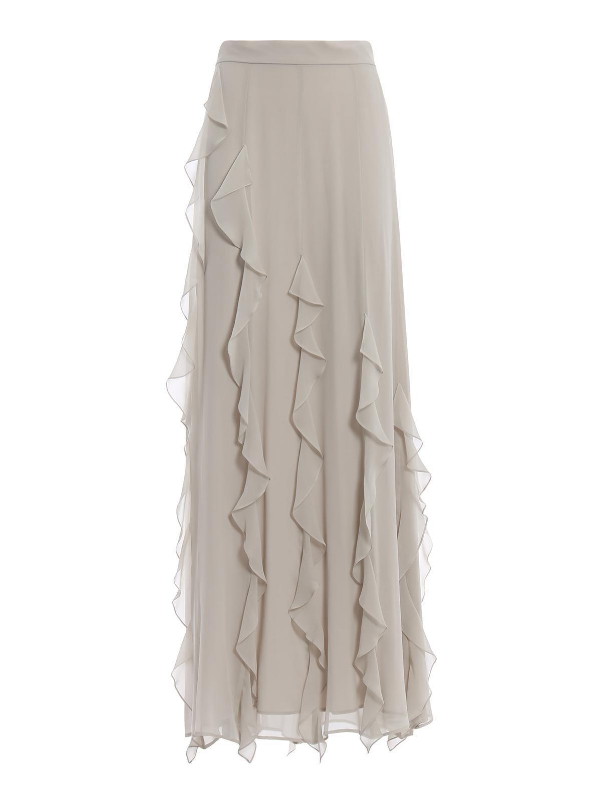 637a52cb8 Max Mara - Serafin frilled silk long skirt - Long skirts ...