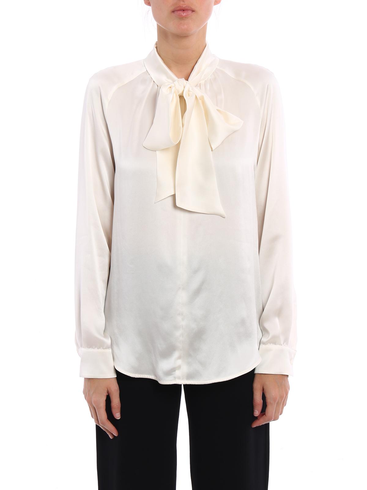 943e49d88b2d3d Max Mara - Soraia self-tie silk satin blouse - blouses - 11110671000 001