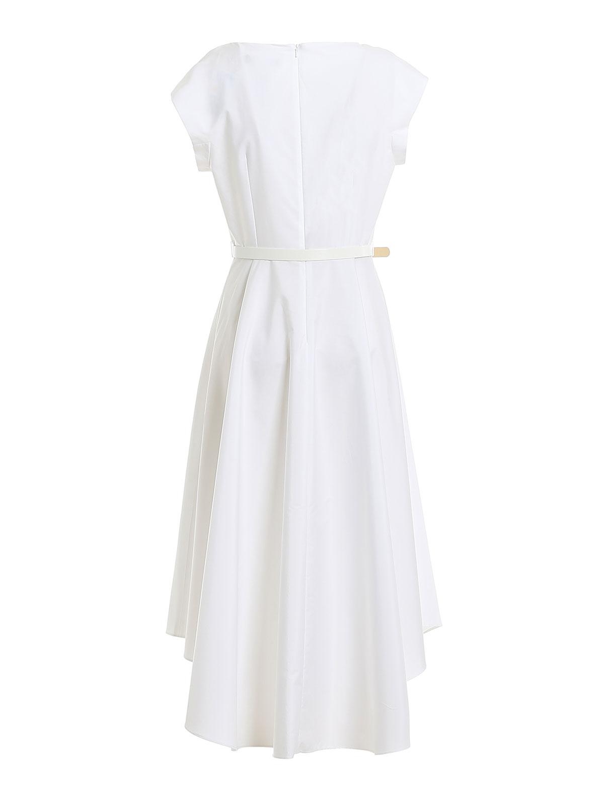 Knielanges Kleid - WeiSs