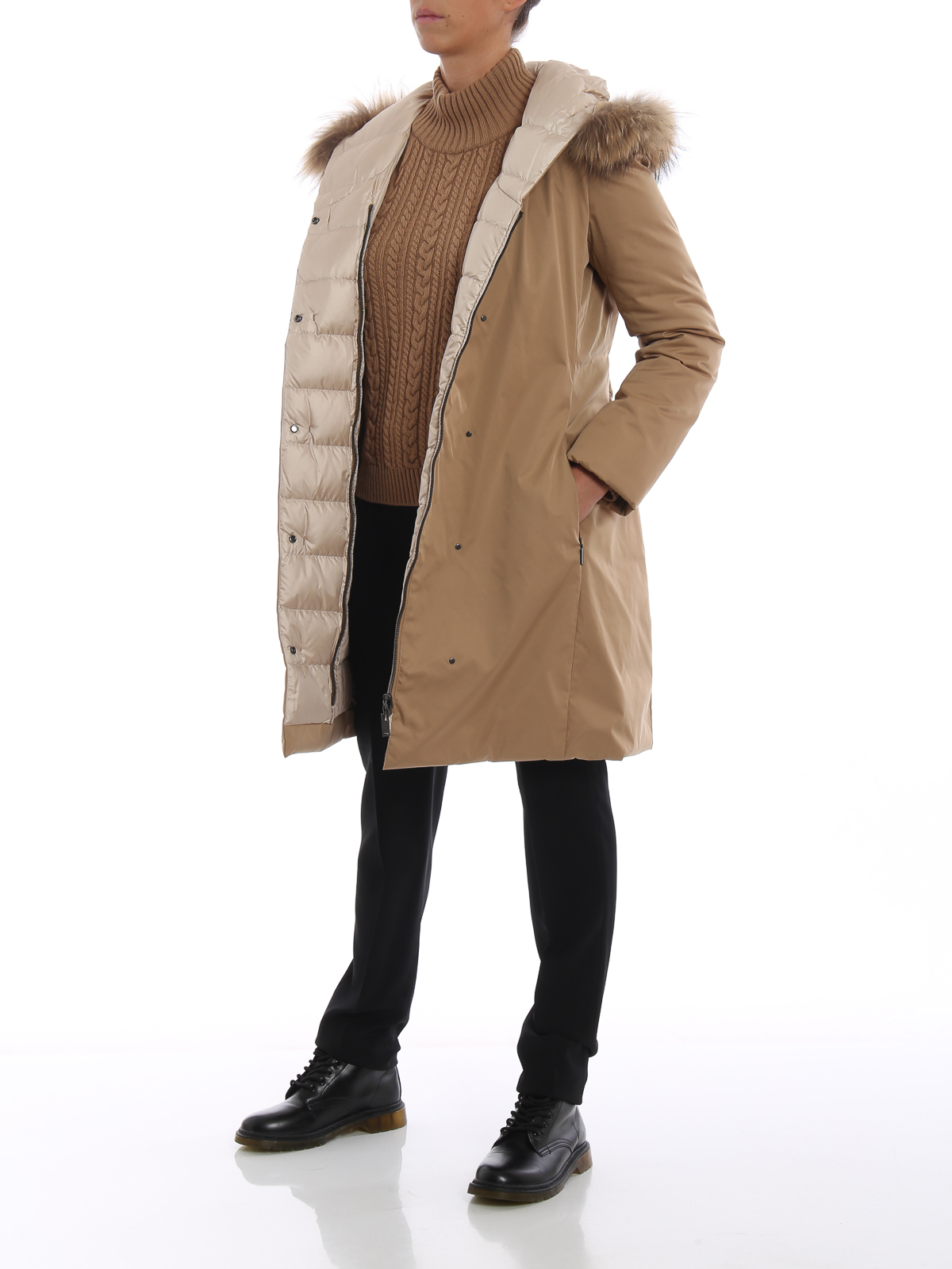 più amato 0e8a6 709c1 Max Mara - Mino fur inserts waterproof padded coat - padded ...