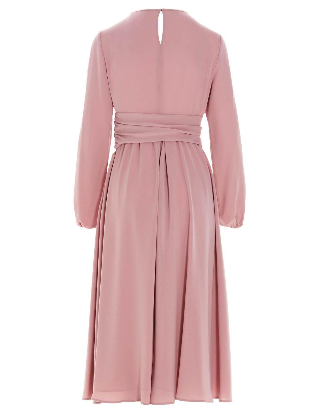 Max Mara Studio Knielanges Kleid Rosa Knielange Kleider 62211217000023