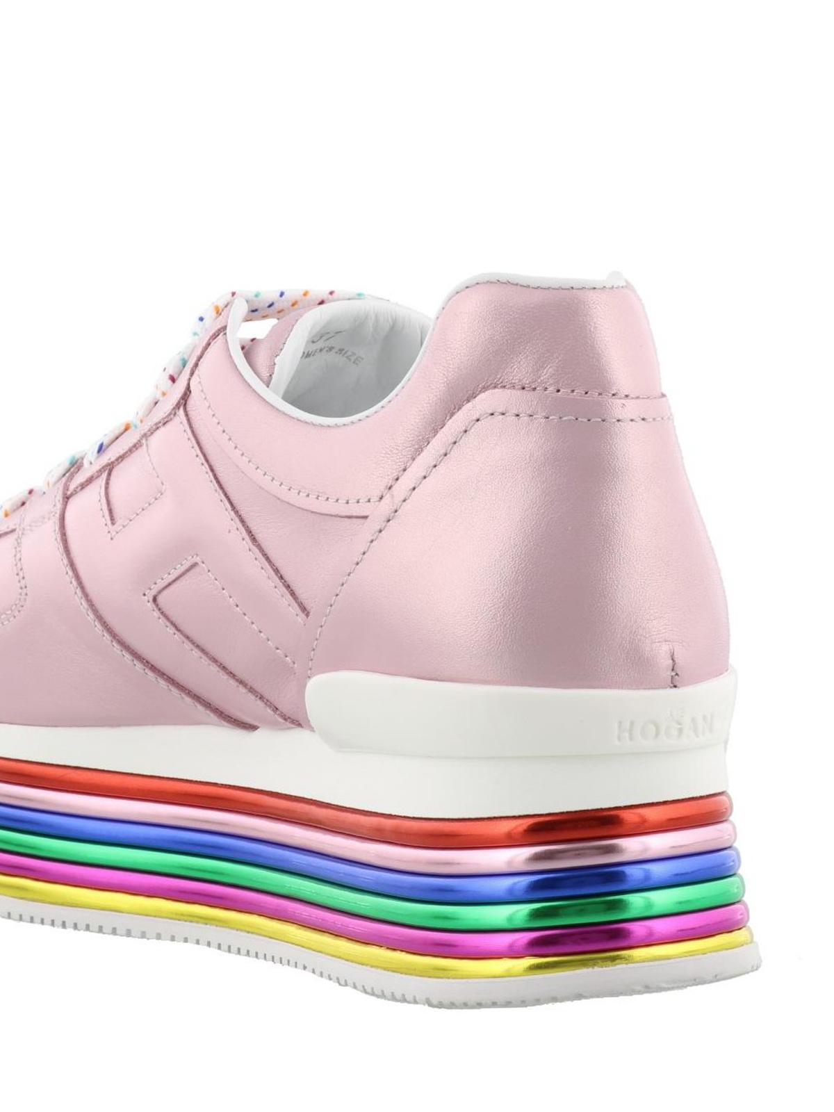 Sneakers Hogan - Sneaker Maxi H222 rosa laminato - GYW3520T548SV0M417