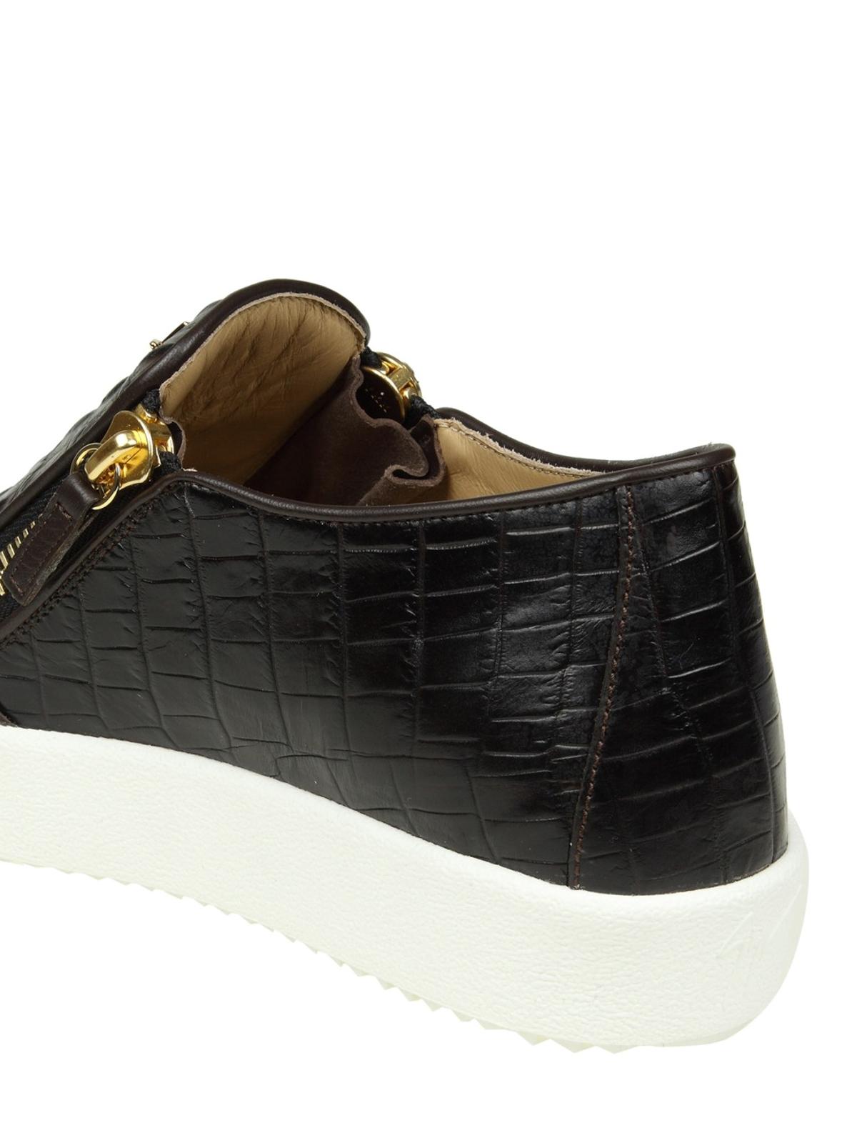 5287a0fd9f14c Giuseppe Zanotti - May London croco print slip-ons - trainers ...