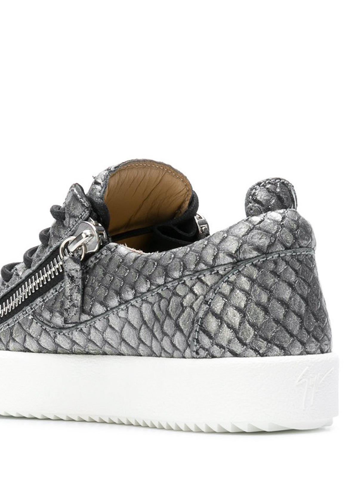 16118e1136bcc Giuseppe Zanotti - May London grey reptile print sneakers - trainers ...