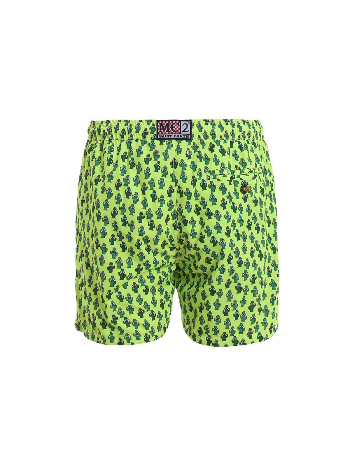 a7f2929bb1 MC2 SAINT BARTH: Swim shorts & swimming trunks online - Lighting Micro  cactus print swim