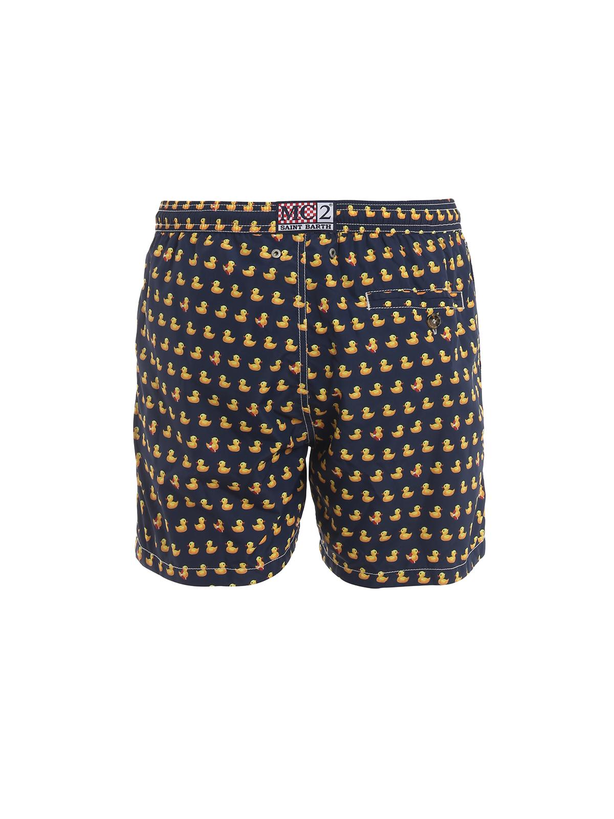 abwechslungsreiche neueste Designs neuer Stil wie kauft man Mc2 Saint Barth - Lighting Micro duck print swim shorts ...
