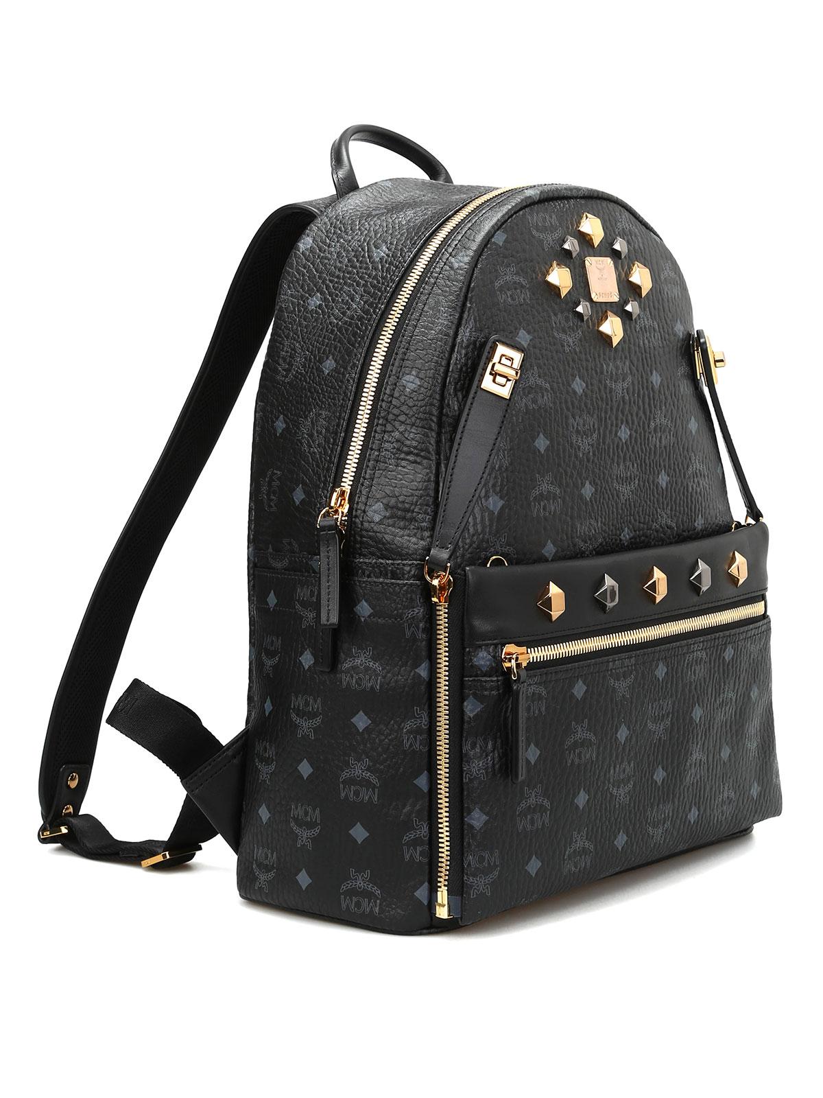 Mcm Medium Dual Stark leather backpack Rucksäcke
