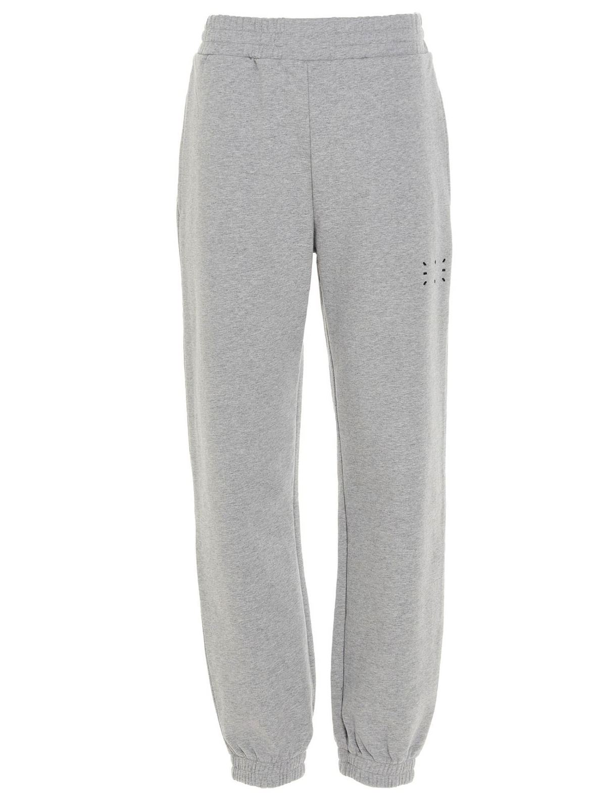 Mcq By Alexander Mcqueen Cottons RUBBERISED LOGO JOGGERS IN GREY