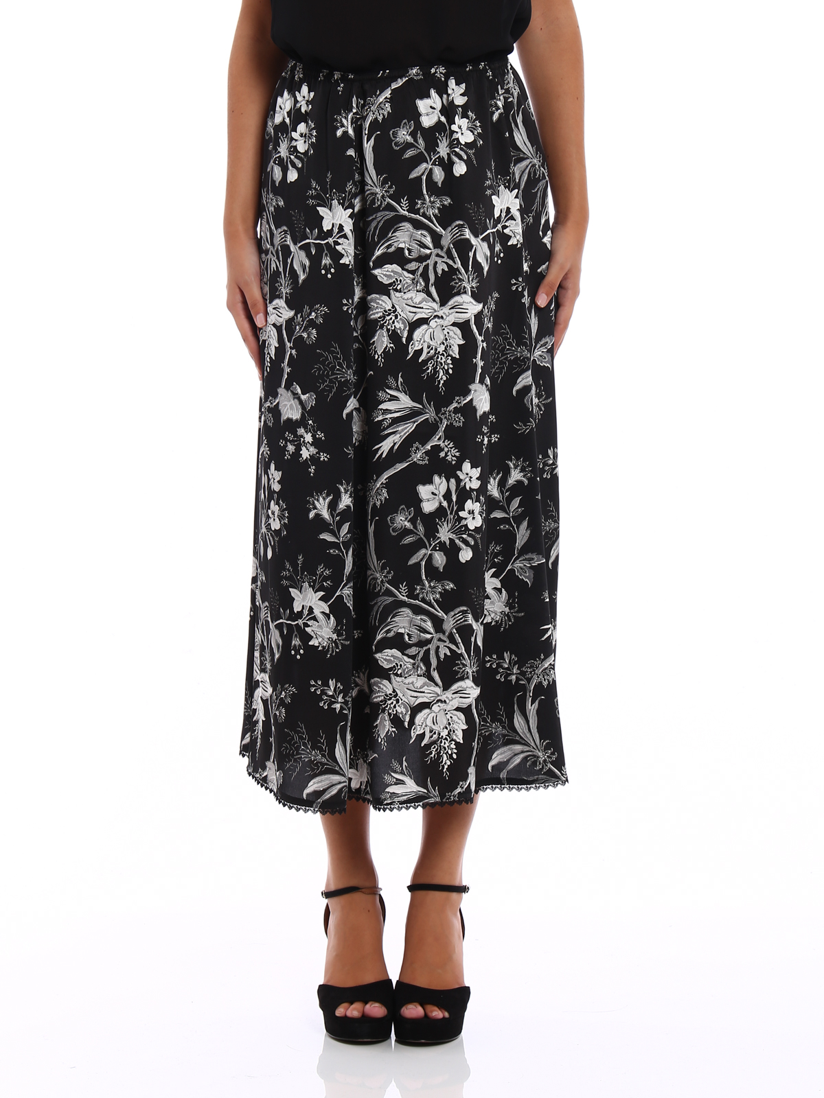 finest selection 0f688 05f63 Mcq - Maxi gonna in raso stampato - Gonne Lunghe ...