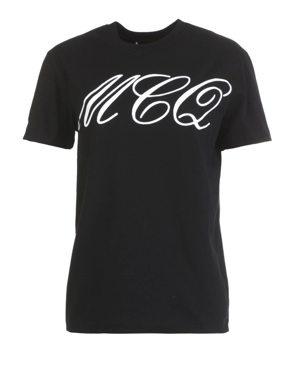 Logo print t shirt by mcq t shirts ikrix for Logos for t shirts printing