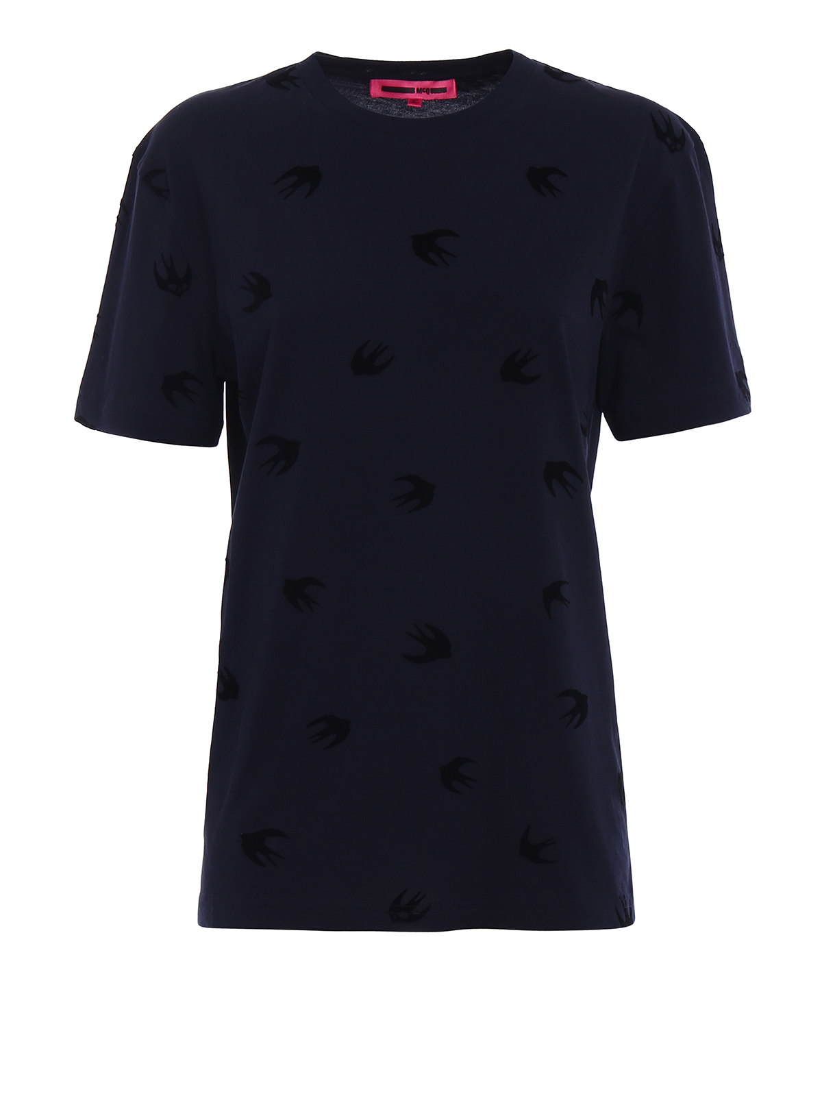 Swallow print ink cotton T-shirt by Mcq - t-shirts | iKRIX - photo#37
