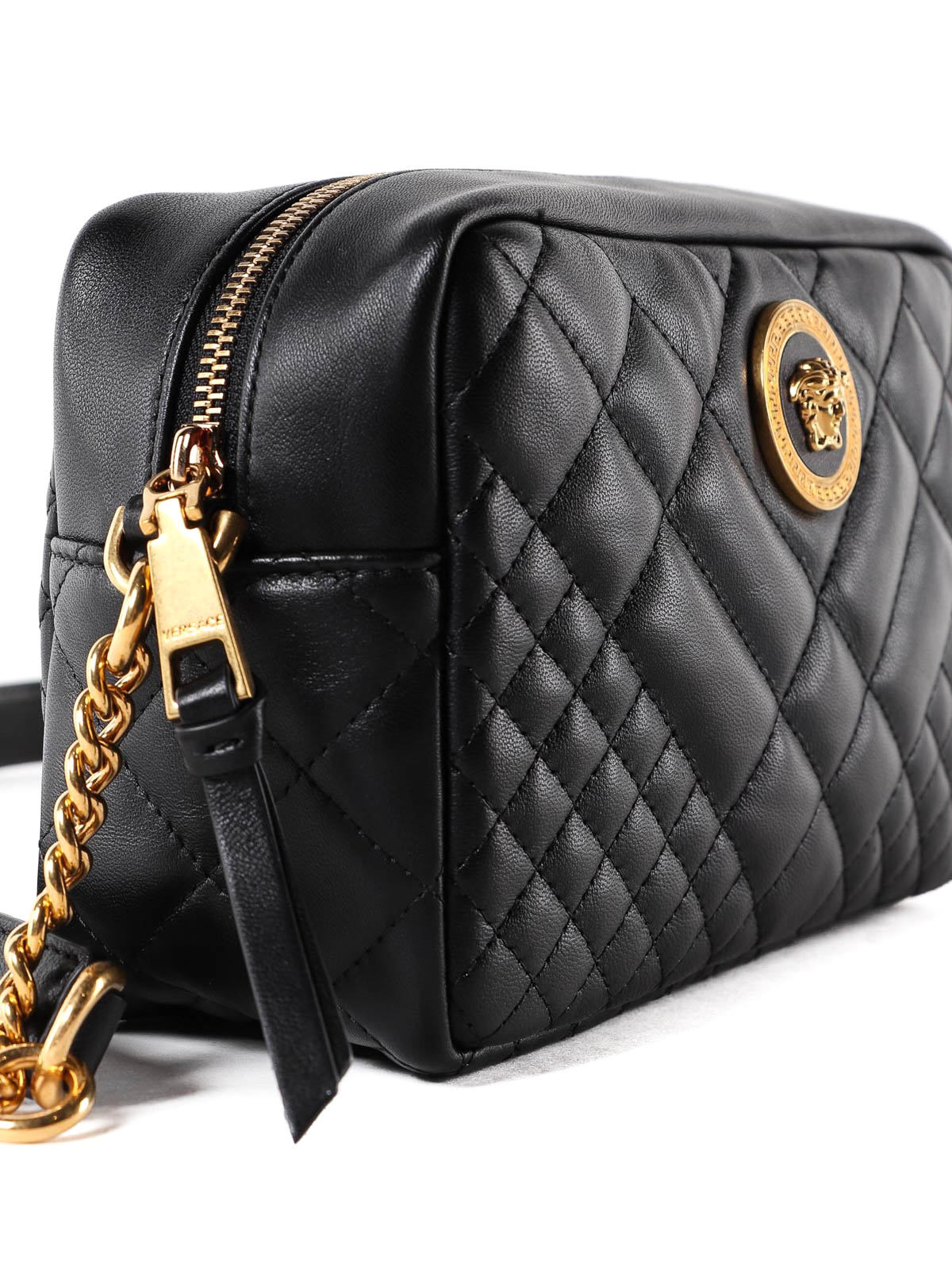 2836b2a66f Versace - Medusa black quilted nappa shoulder bag - shoulder bags ...