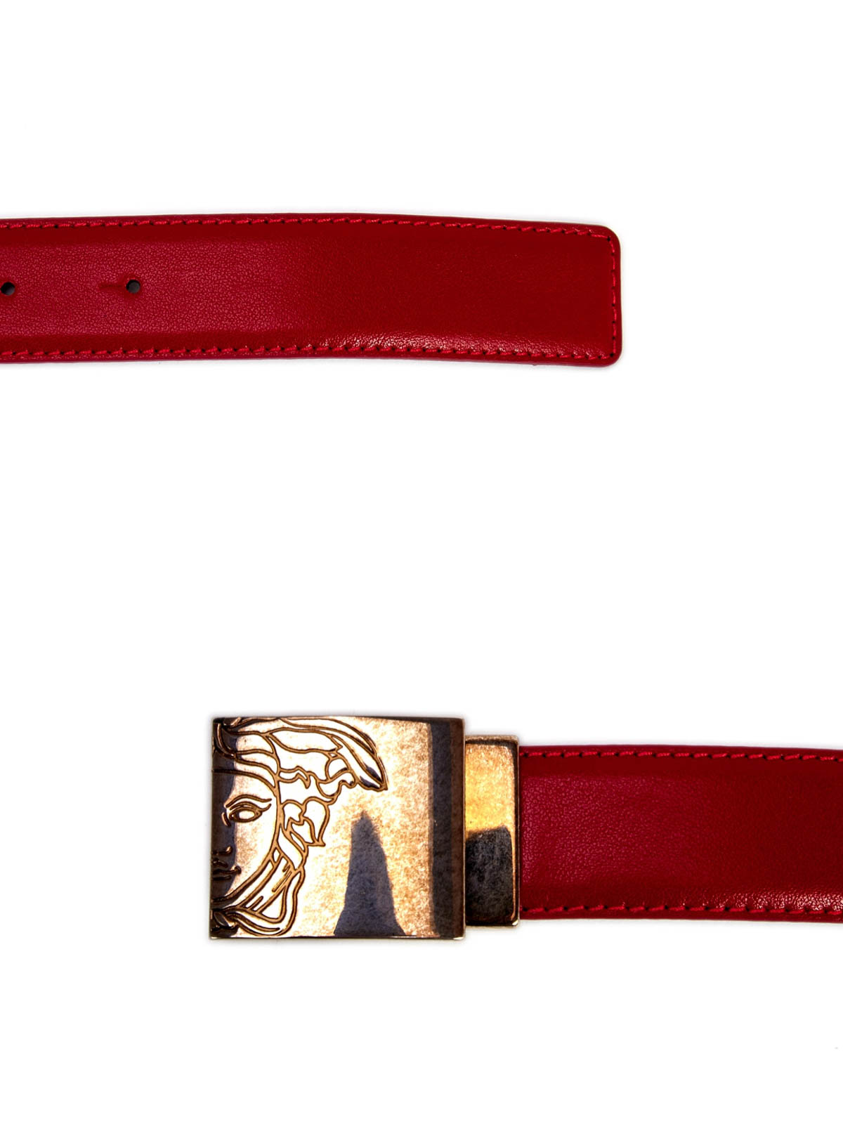 4d40b31a6a7 Versace Collection - Ceinture Rouge Pour Homme - Ceintures - V910226 ...