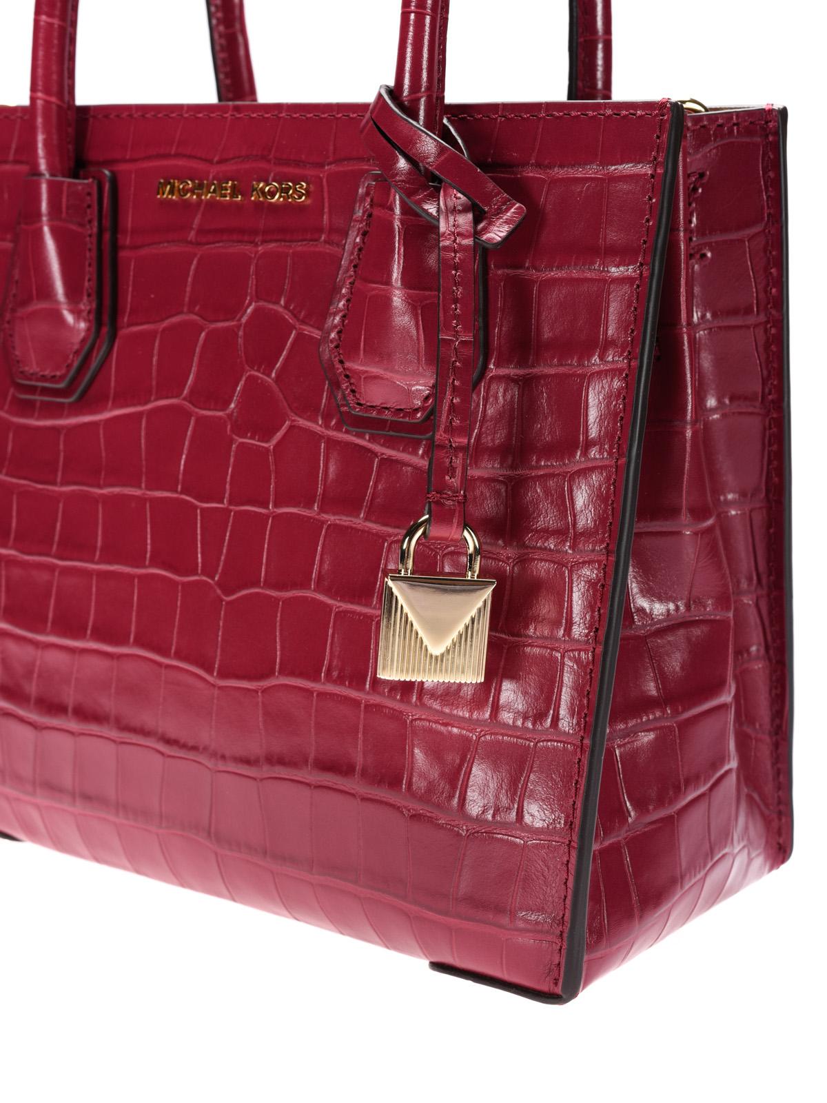 Mercer croco print red leather bag
