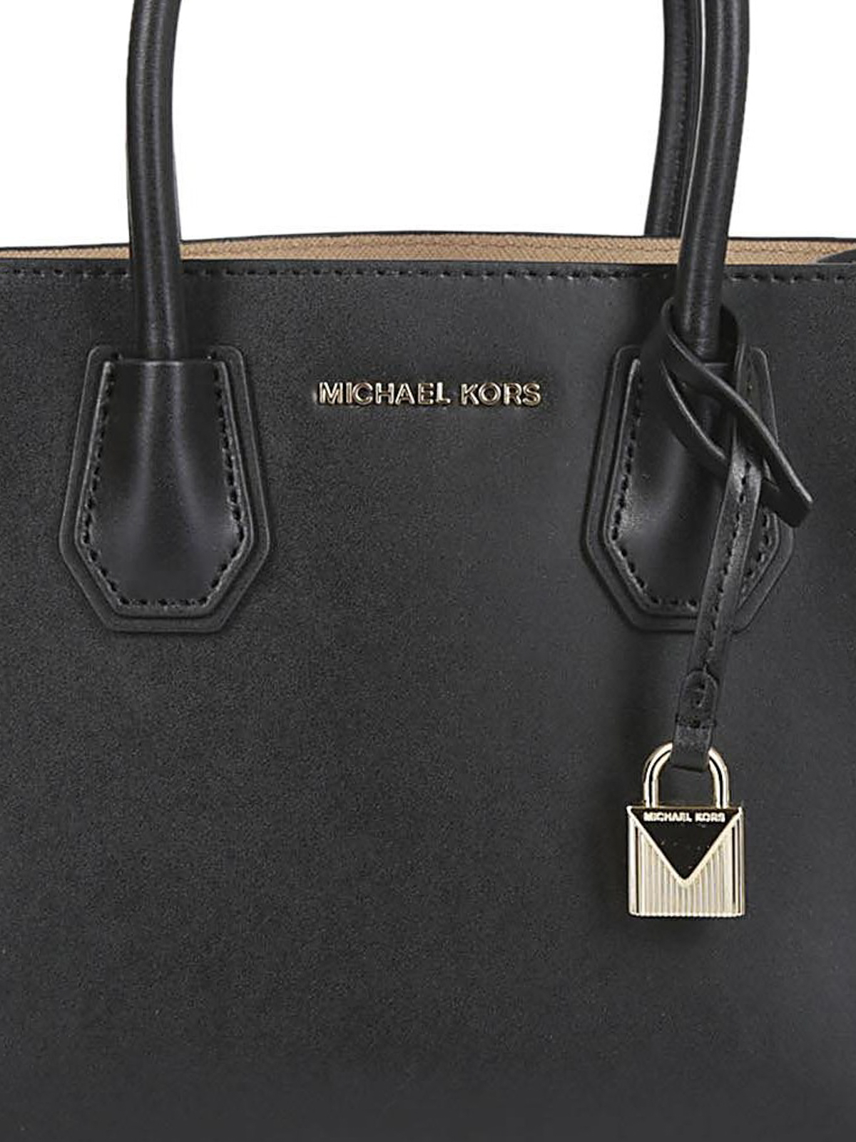 Michael Kors Mercer S black bag with hearts RxXVRl