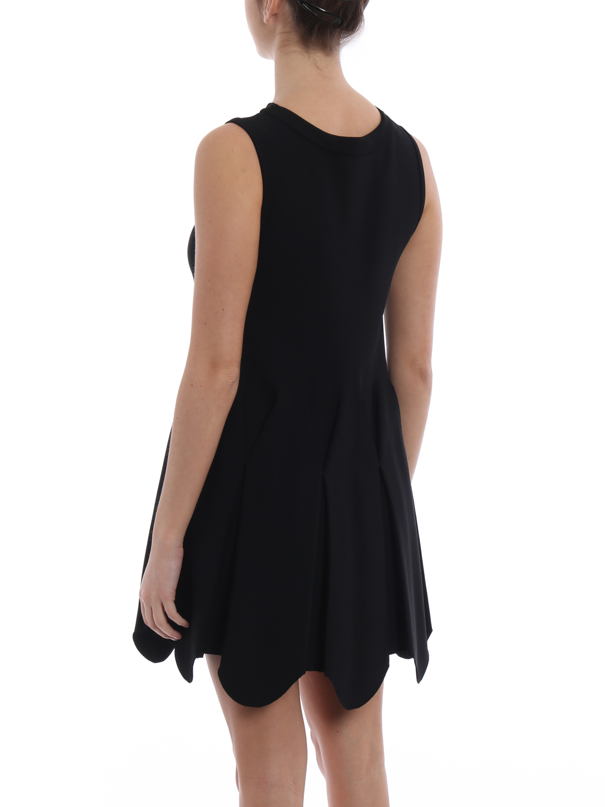 d392e09271d Alaïa - Mermaid short black jersey dress - cocktail dresses ...