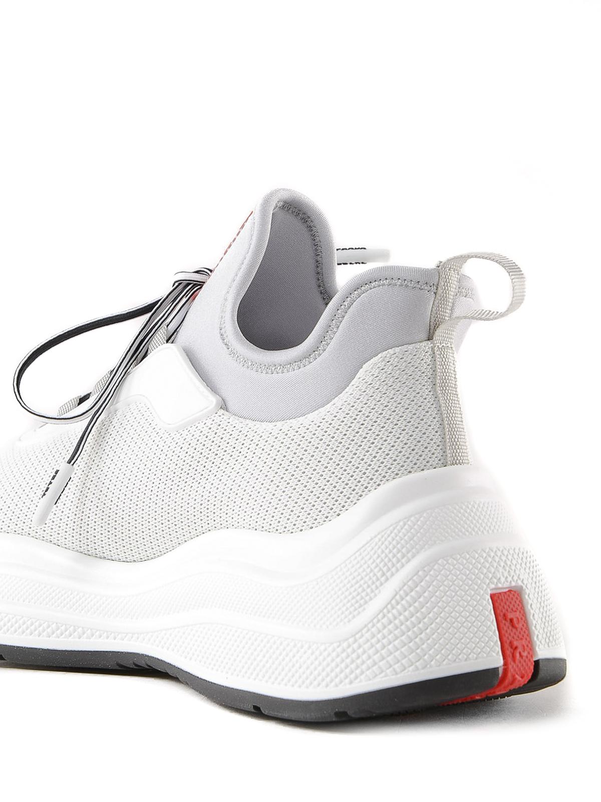 Prada - Mesh sneakers with chunky sole