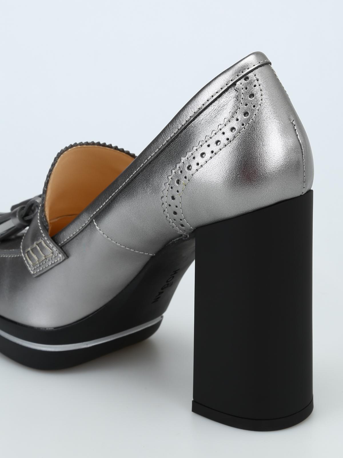 651c4558f8 Hogan - Décolleté stile mocassino in pelle laminata - scarpe ...