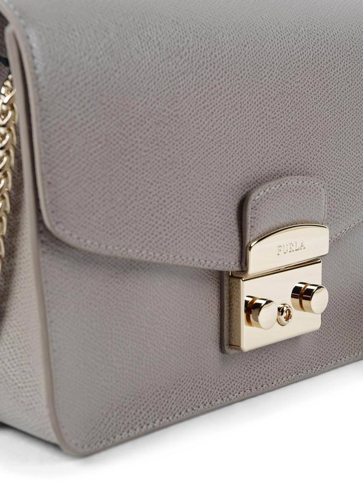 Furla Metropolis S leather shoulder bag m292MRijI