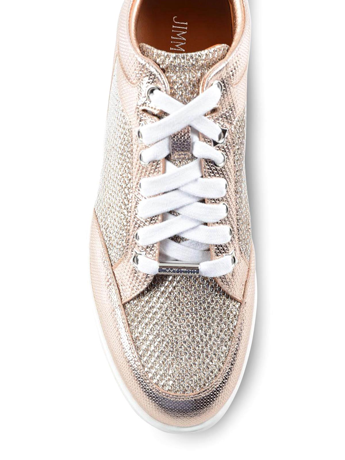 c83193b44f5 Jimmy Choo - Miami metallic and glitter sneakers - trainers - MIAMI ...