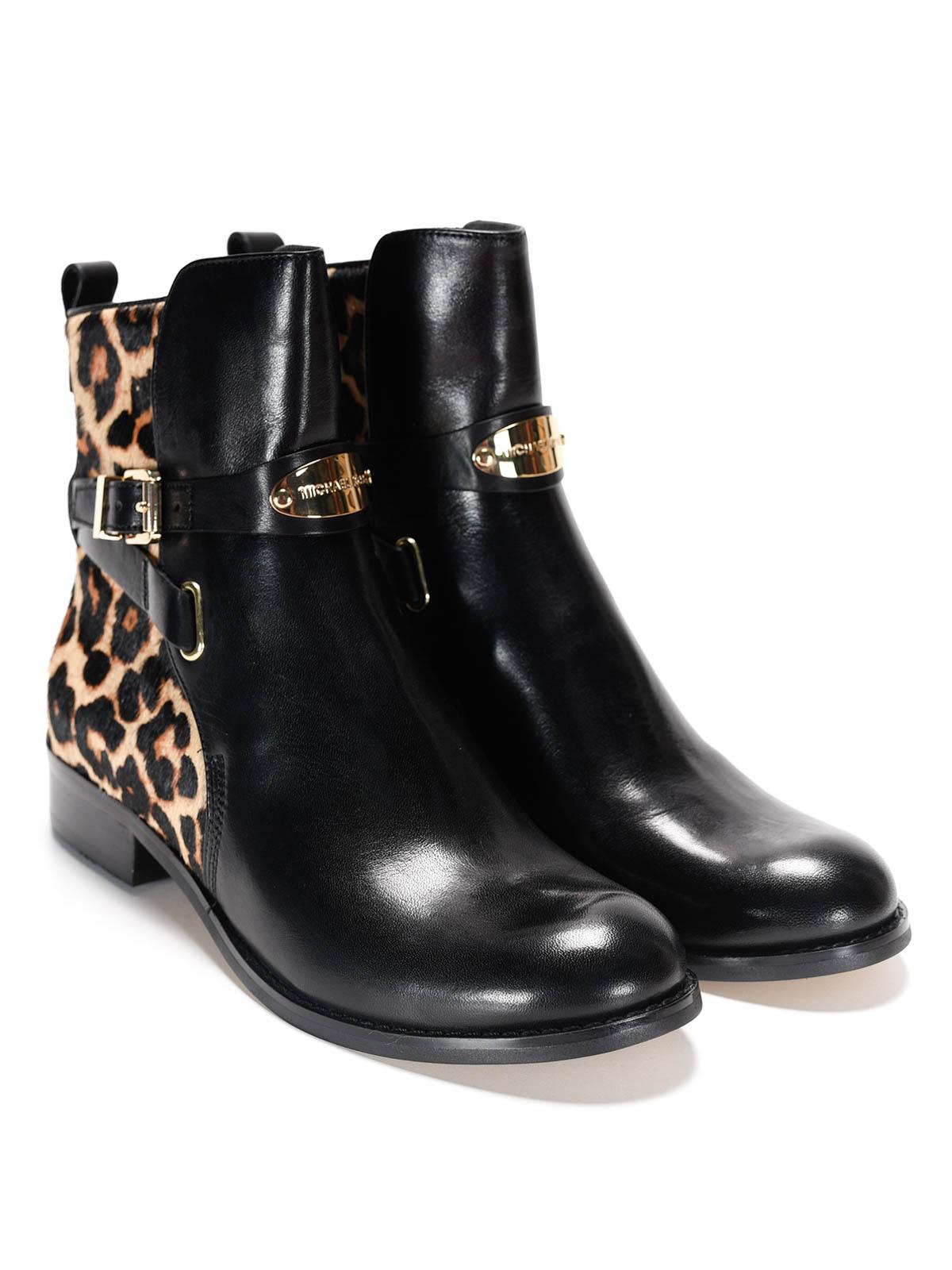 michael kors arley leather ankle boots ankle boots. Black Bedroom Furniture Sets. Home Design Ideas