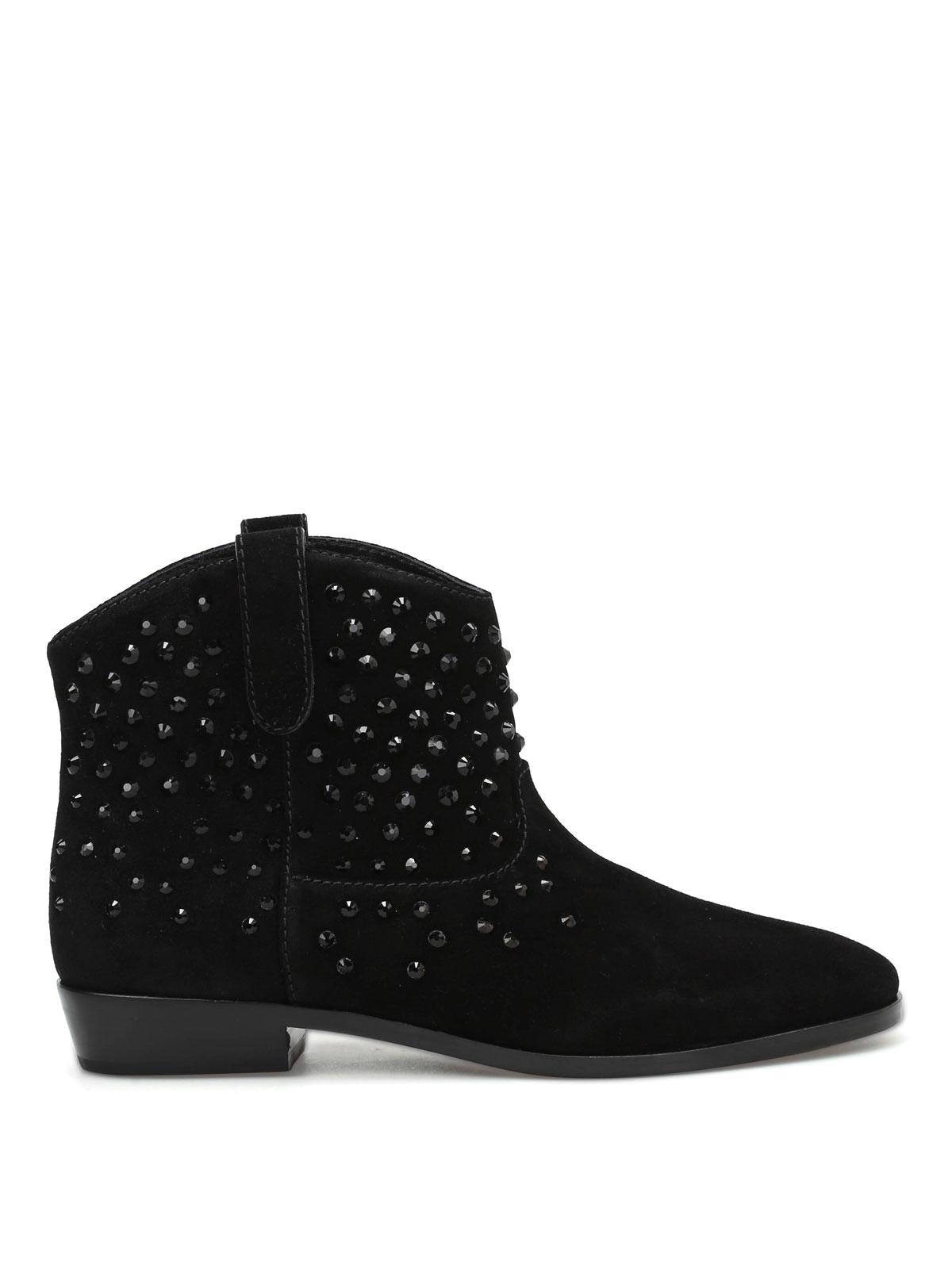 ca0d81c3d827 Michael Kors - Dani embellished suede booties - ankle .