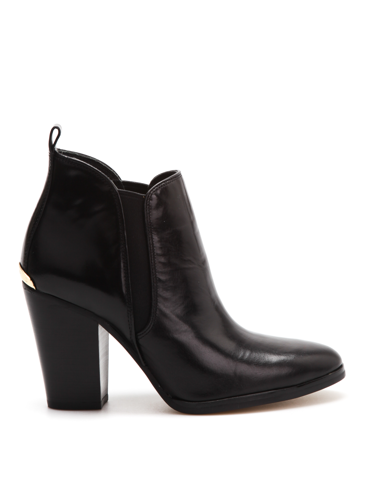 brushed leather ankle boots by michael kors ankle boots. Black Bedroom Furniture Sets. Home Design Ideas