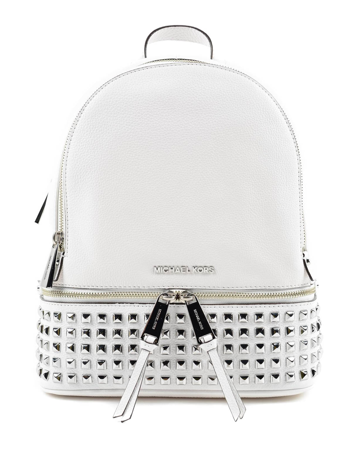 4a038693ea49 ... discount michael kors backpacks rhea small studded leather backpack  2a007 16f02