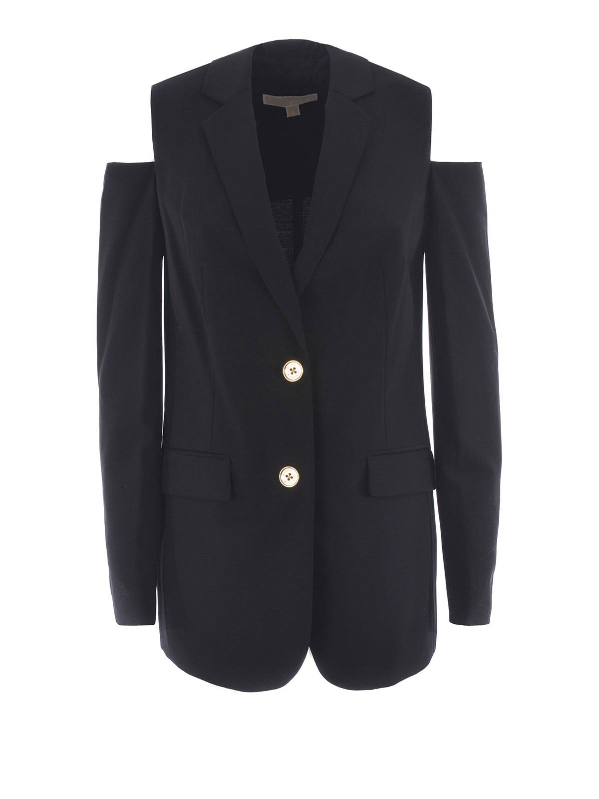 wool blazer with cut out shoulders by michael kors blazers ikrix. Black Bedroom Furniture Sets. Home Design Ideas
