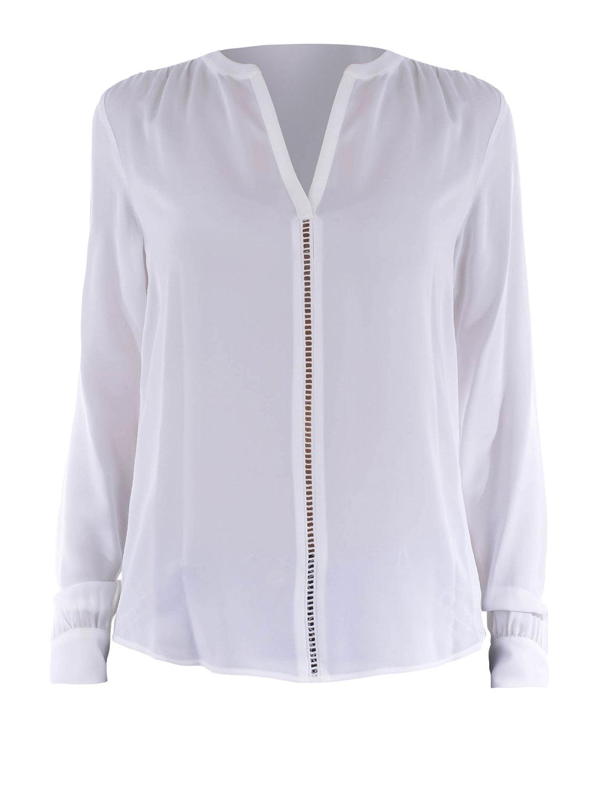 michael kors silk blouse mexican blouse. Black Bedroom Furniture Sets. Home Design Ideas