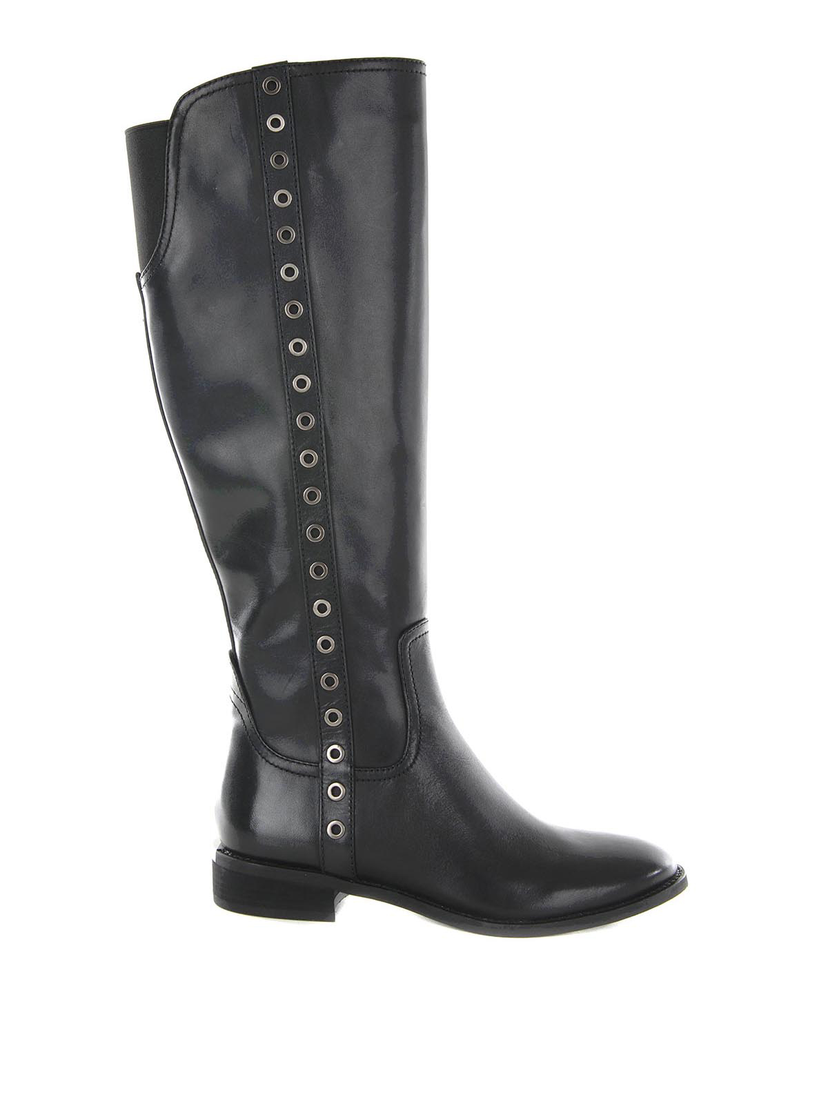 eyelets detailed leather boots by michael kors boots ikrix. Black Bedroom Furniture Sets. Home Design Ideas
