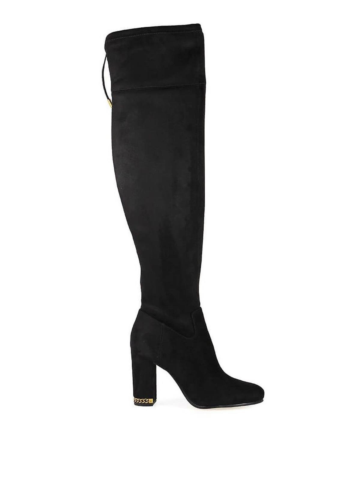 415d48ca636 Michael Kors - Jamie Stretch suede-like block heel boots - boots ...